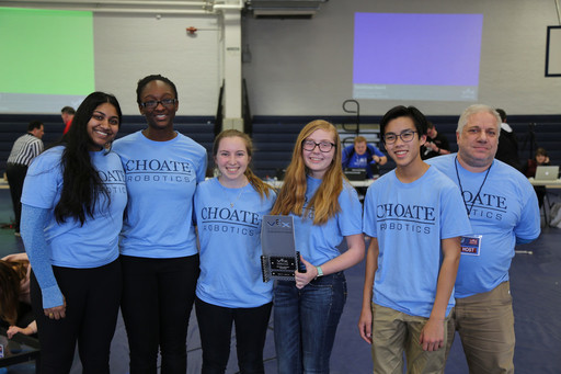 Choate Robotics Team Wins Excellence Award
