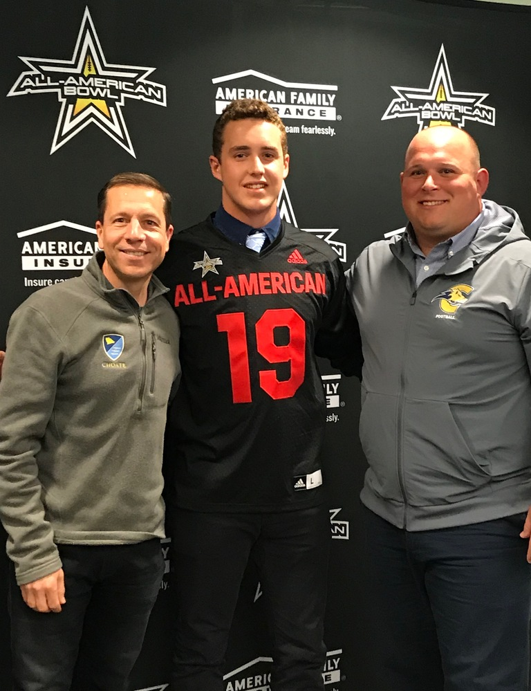 Will Powers '19 accepts All-American Bowl Nomination