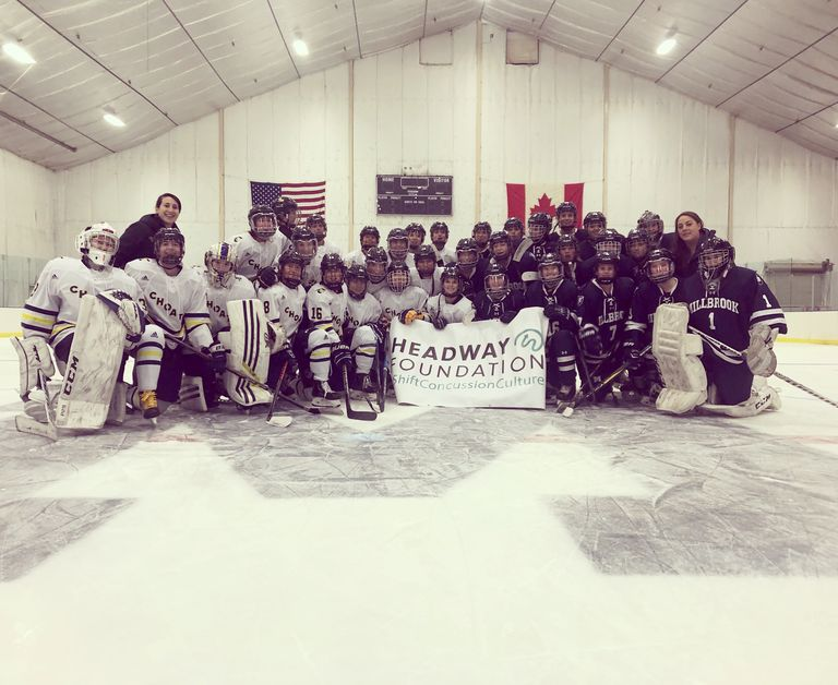 Girls' Varsity Hockey team partners with the Headway Foundation