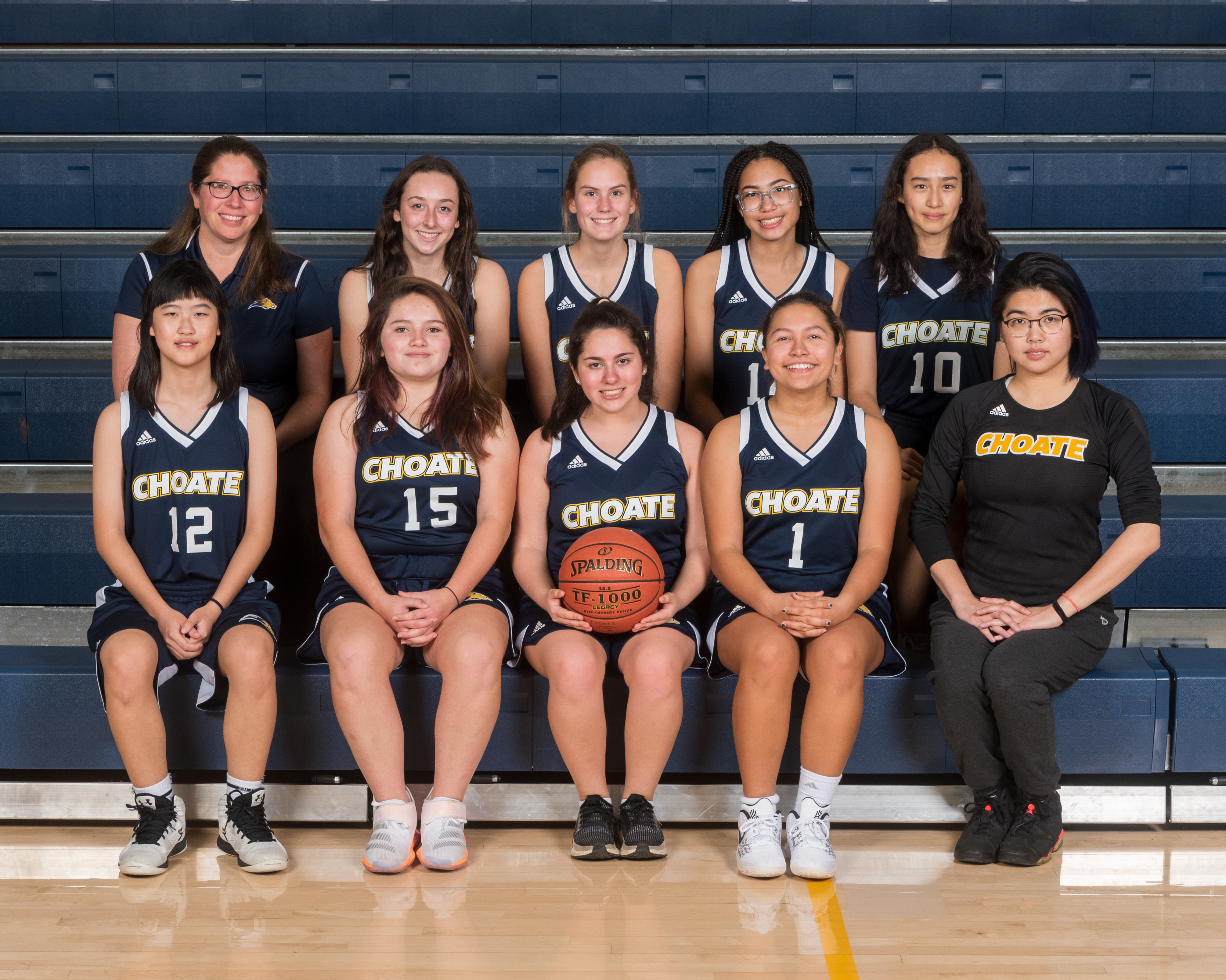 Choate Girls Thirds Basketball team